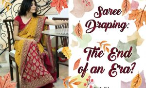 indian fashion traditional Saree-Draping-End-Era