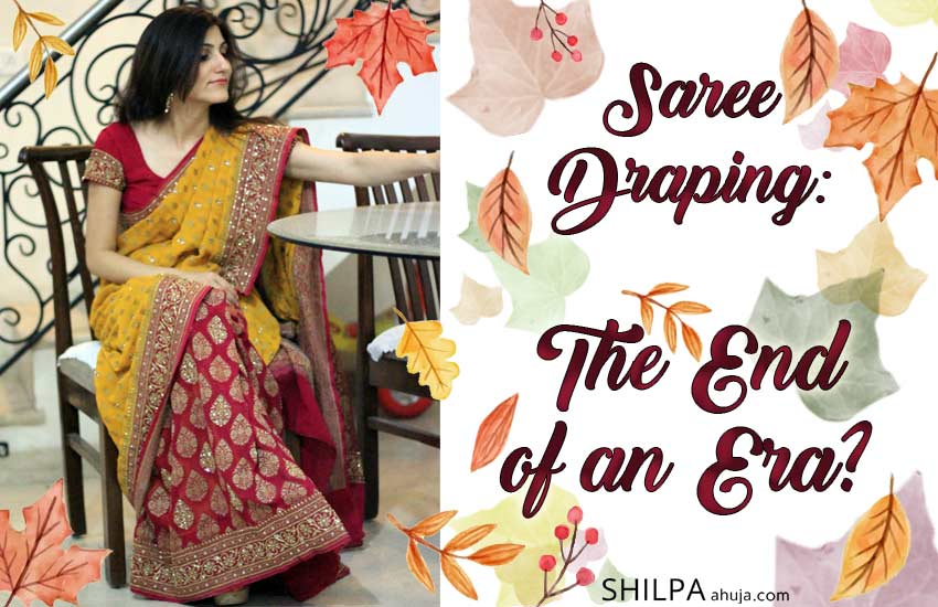indian fashion traditional Saree-Draping-End-Era