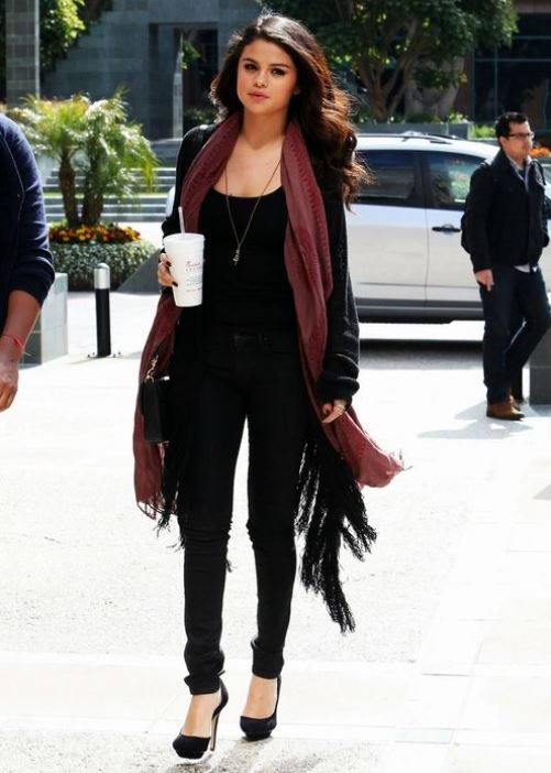 selena gomez college ideas coat winter street style