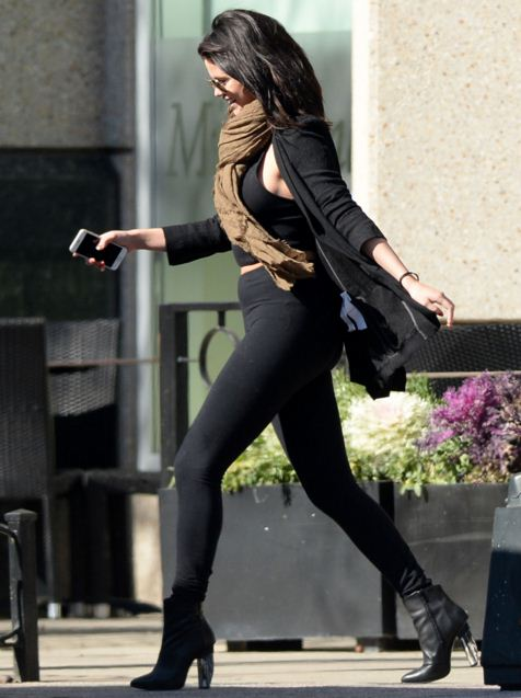selena-gomez-street-style-black-jacket-top-tights