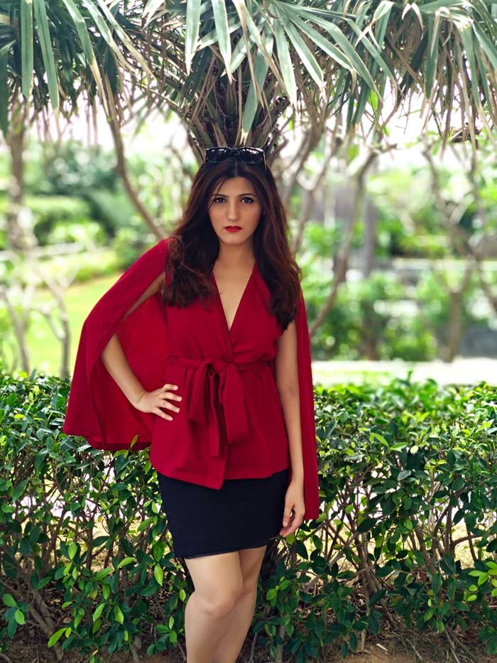 shilpa ahuja fashion model photography style red outfit