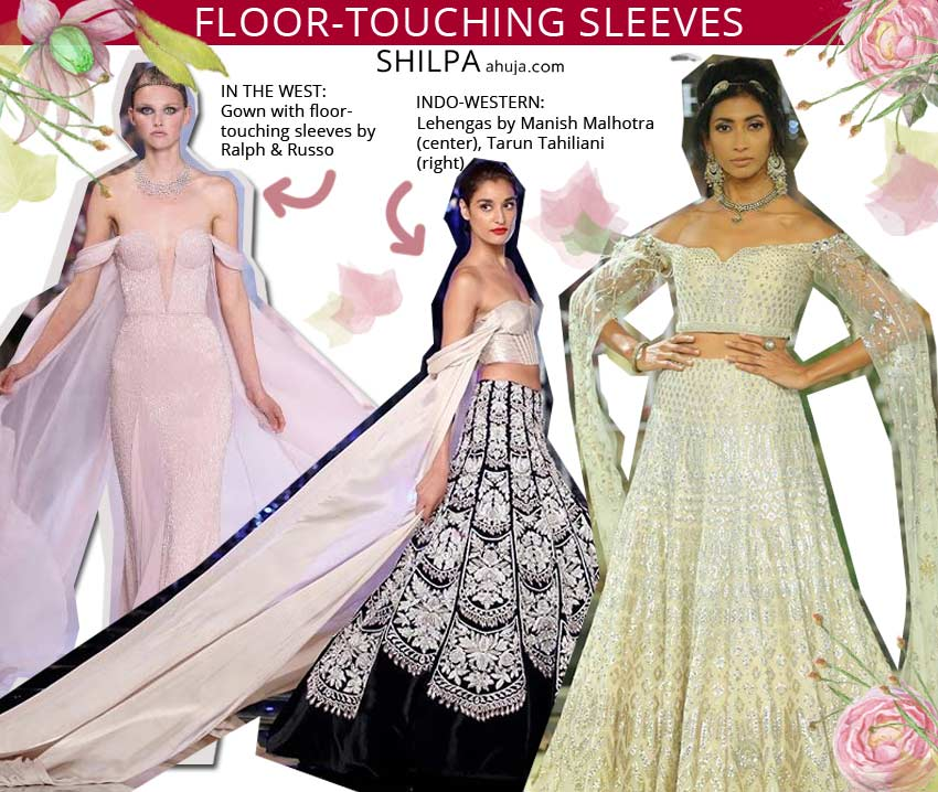 best top indowestern beautiful fashion floor-touching-sleeves