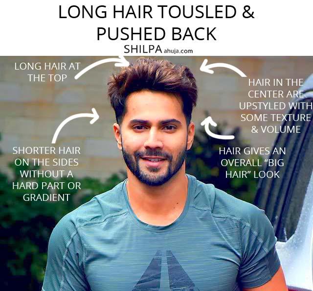 hairstyles mens indian 2020 long pushed back tousled varun-dhawan