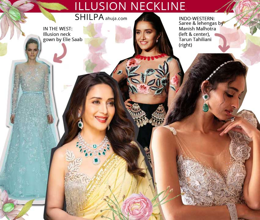 indian indo western elements fusion fashion illusion-neckline neck
