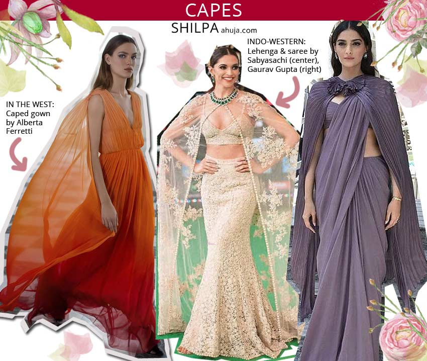 latest indo western wear different unique styles cape