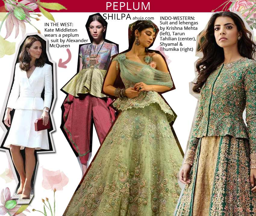 peplum types of indo western dresses fusion ethnic wears