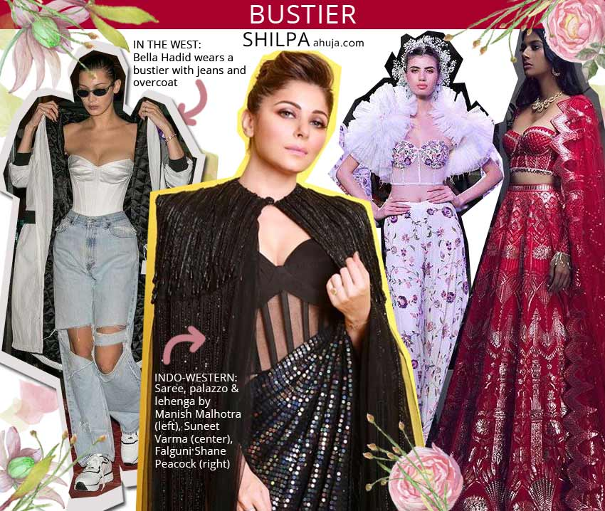 unique latest indo western fashion bustier