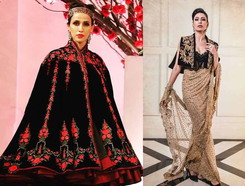 Latest-indian-fashion-Trends-2020-cape-rohit-bal-tahiliani