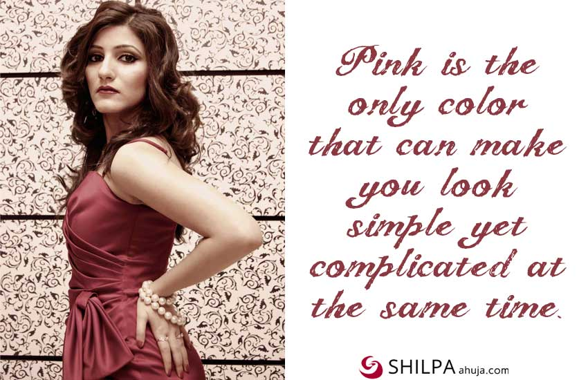Pink-Dress-Quotes-for-Instagram Outfit Captions color hot