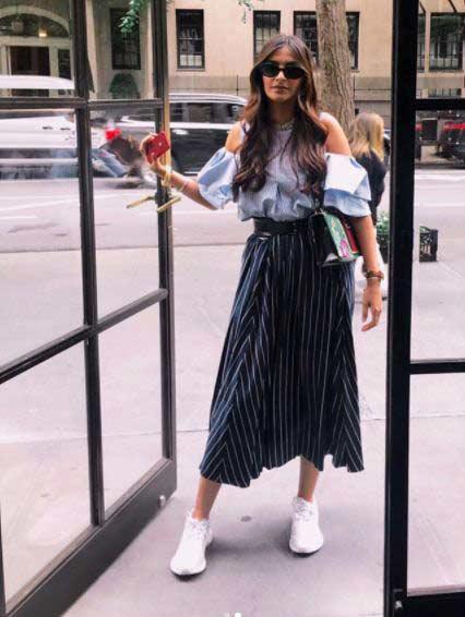 Bollywood Celeb Street Style sonam flounce-sleeves