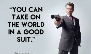 captions Suit-Quotes-for-Instagram-funny-attitude-james-bond
