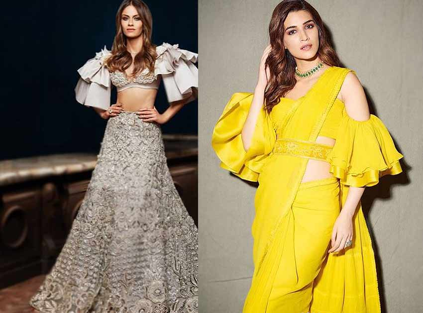 ethnic-fashion-Trends-2020-flounce-sleeves-manish-malhotra-tahiliani