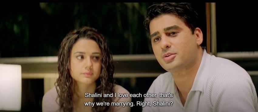 Dil Chahta Hai Shalini akash aamir khan preity zinta rohit