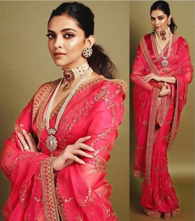deepika padukone saree jewelry accessorize