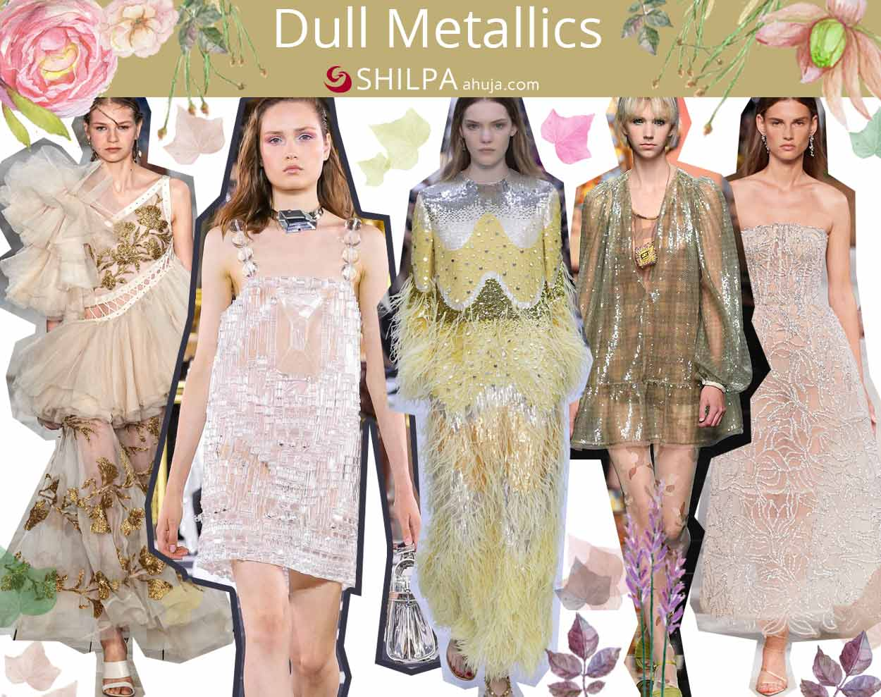 fashion trend forecast spring summer 2020 Dull-Metallics