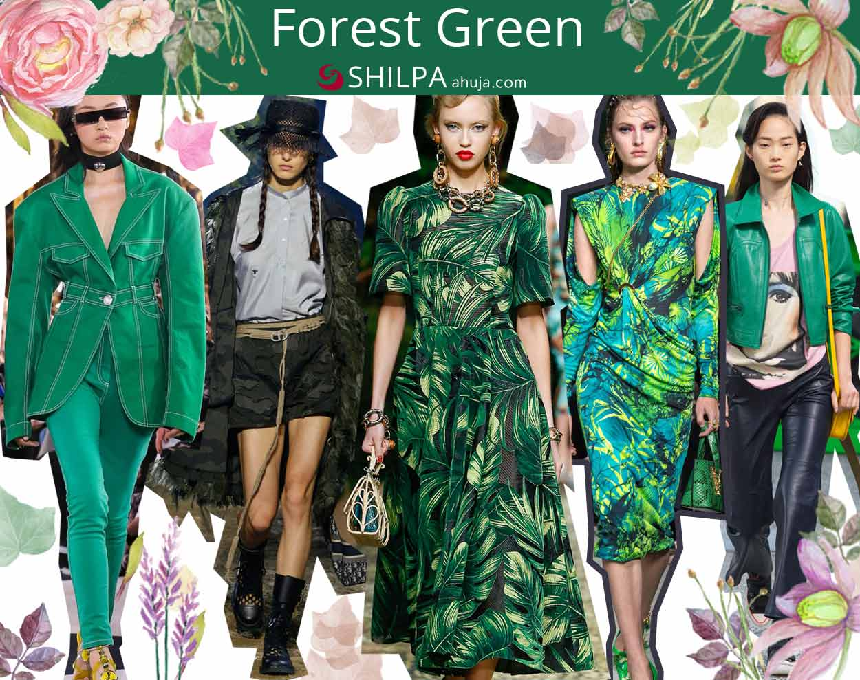 latest fashion color trends ss20 spring summer 2020 Forest-Green