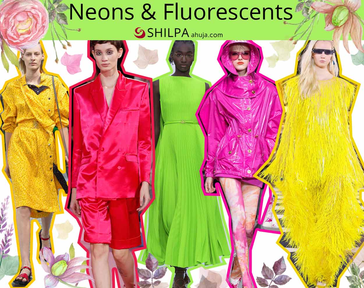 latest fashion trends styles spring 2020 ss20 colors Neons-Fluorescents