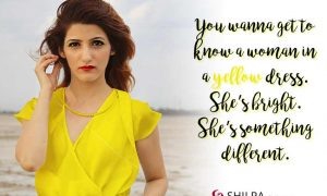 shilpa ahuja yellow-dress-attitude quotes insta captions