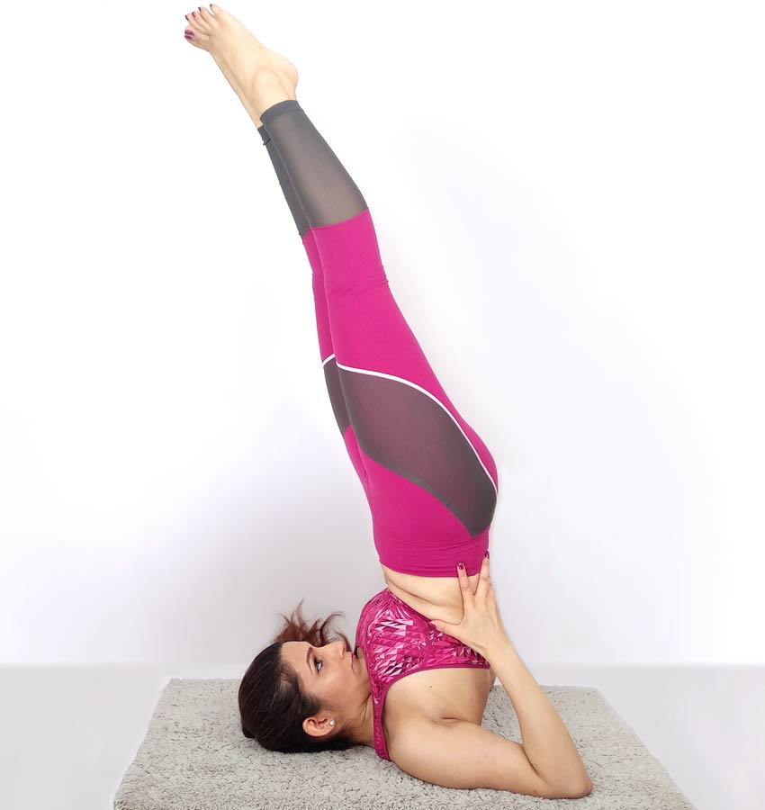 shilpa yoga sarvanagasana pose advanced difficult