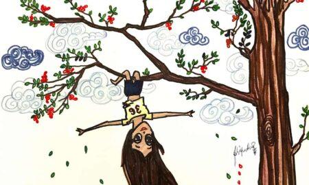 audrey-o-cartoon-girl-fashion-illustration-comic-strip--summer-gulmohar