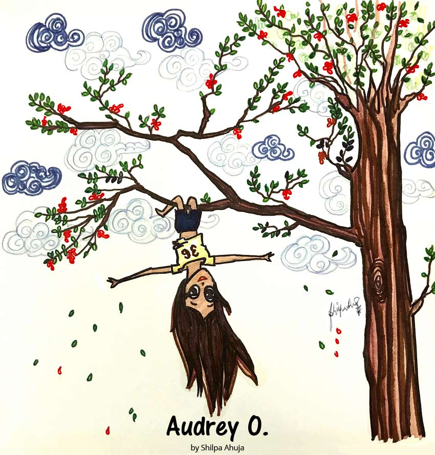 audrey-o-cartoon-girl-fashion-illustration-comic-strip--summer-gulmohar