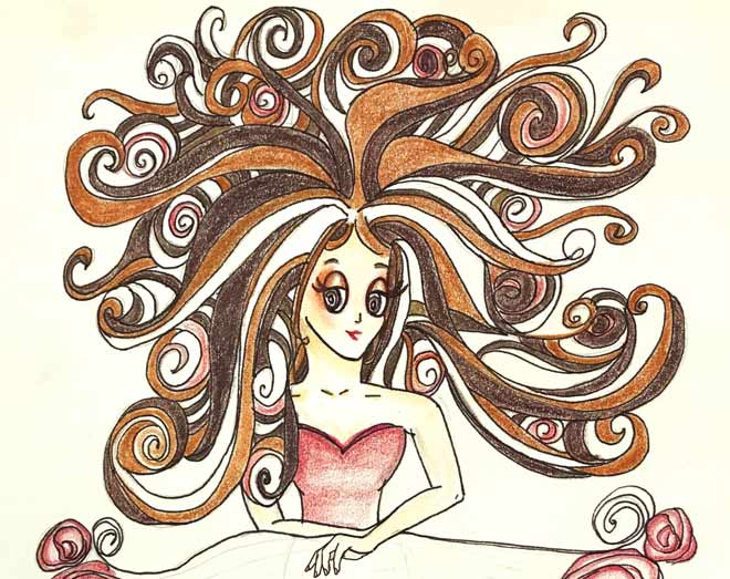 audrey o comics fashion cartoon hair girl