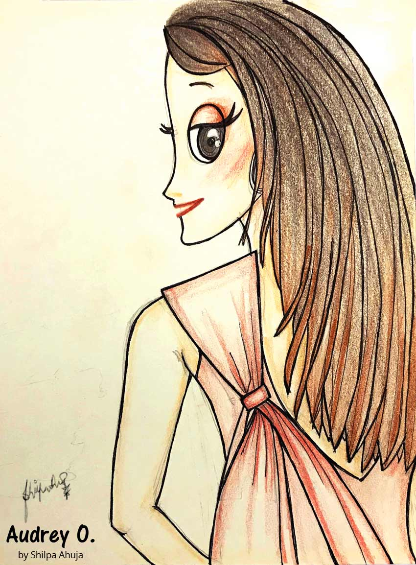 audrey-o-cartoon-girl-fashion-illustration-pink-gown-woman