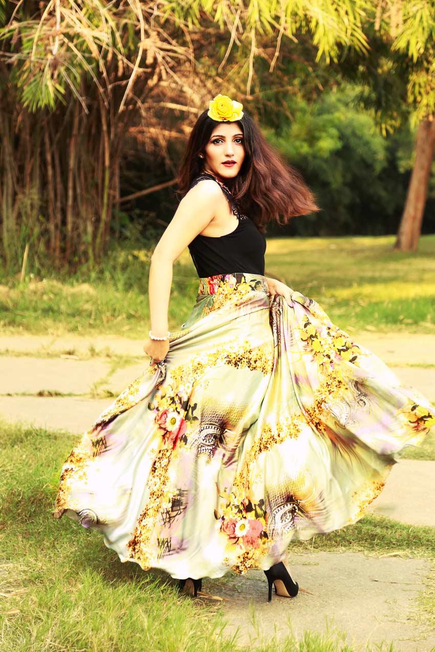 shilpa ahuja fashion editorial magazine long skirt spring