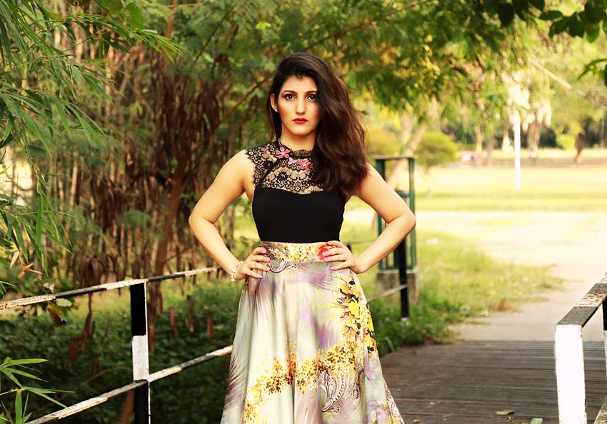 shilpa ahuja fashion shoot how to style a floral skirt